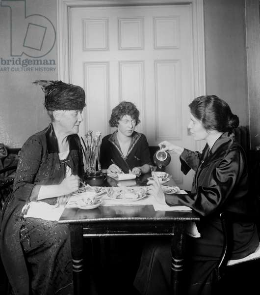 Suffragist Alice Paul at lunch
