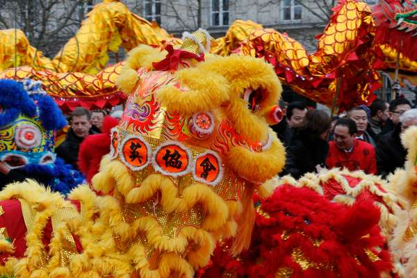 Chinese New Year, Lion dance (photo)