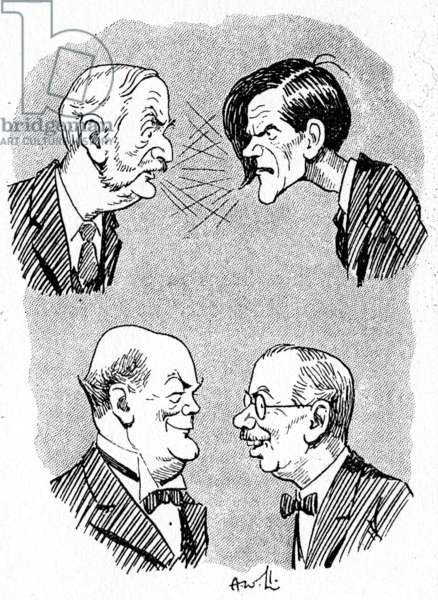 A dispute between George Lansbury, James Maxton, Lord Hailsham and James Henry Thomas
