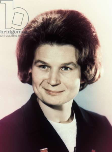 Soviet Cosmonaut Valentina Tereshkova, the First Woman in Space, 1965.
