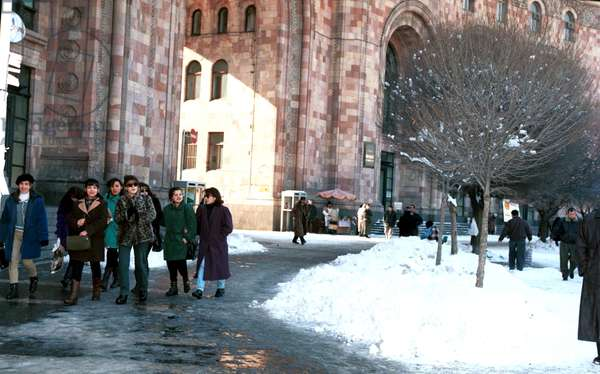 Yerevan in Winter, Armenia, 1998.