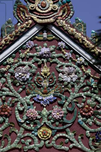 Mural detail in pagoda. Thailand, January 18, 2007.  (photo)