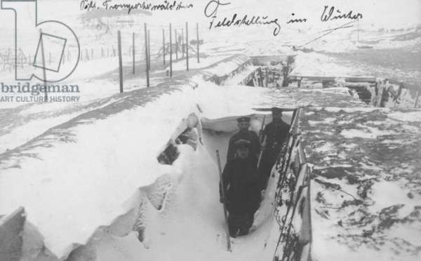 Winter in the Trenches, 1916 (b/w photo)
