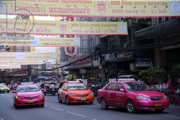 Chinatown, Taxis, Bangkok, Thailand, 2015 (photo)