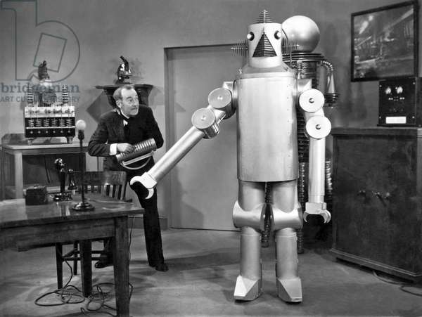 Science Fiction Film Robot, Hollywood, California, 1934 (b/w photo)