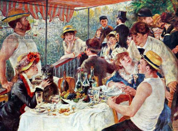 Luncheon of the Boating Party, 1850