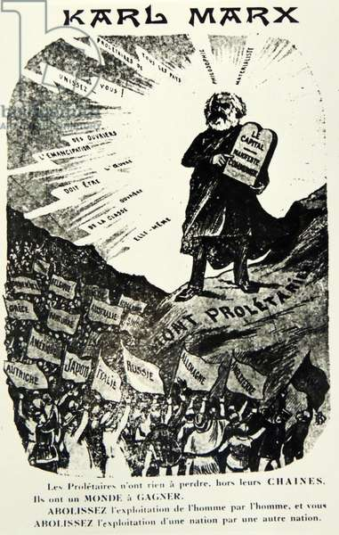 Karl Marx depicted as Moses