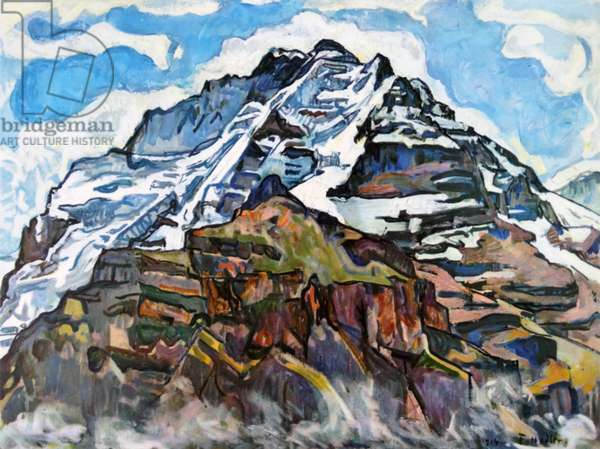 Landscape with Jungfrau 1914; by Ferdinand Hodler