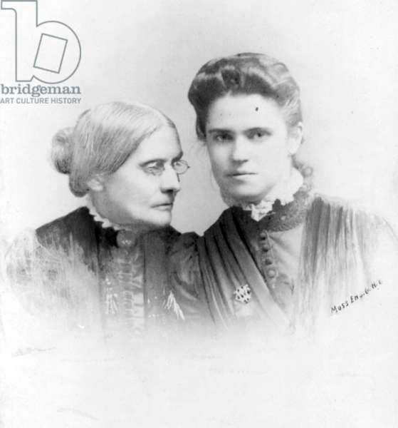 Suffragist Susan Anthony and Rachel Foster Avery