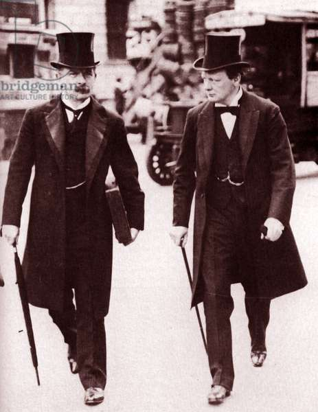 David Lloyd George (1863-1945) and Winston Churchill (1874-1965)