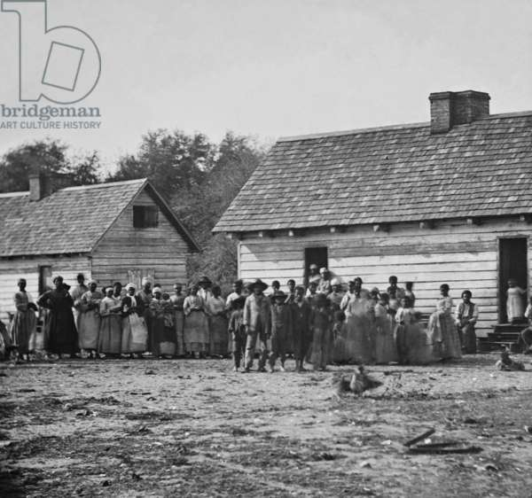 African American Slaves on a Plantation 1862 (photo)
