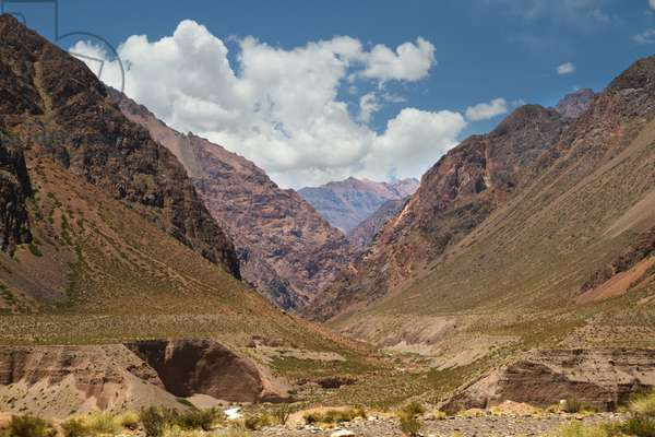 Chorrillos Range of the andes Mountains, Mendoza, Argentina (photo)