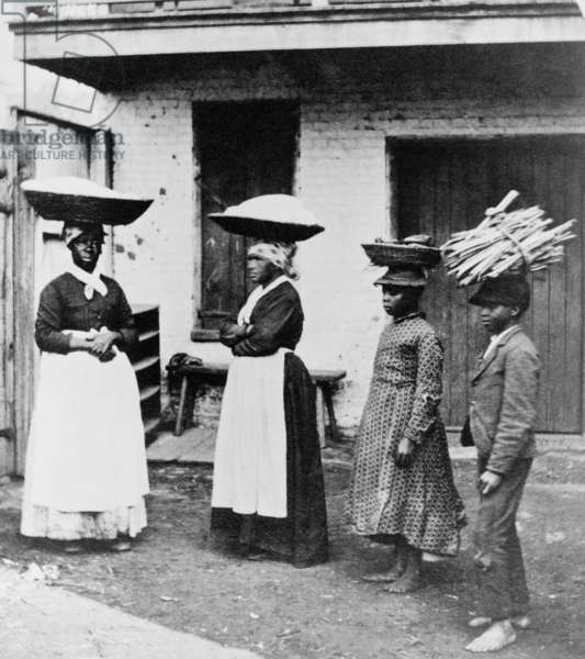 African Americans working, Charleston, S.C.: Street vendors 1879 (photo)
