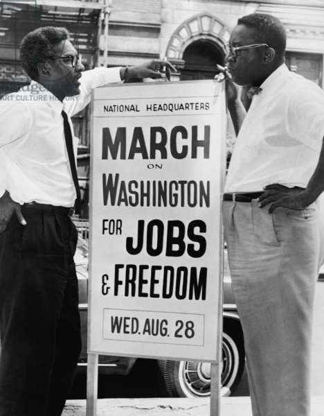 March for jobs in Washington, DC 1963 (photo)