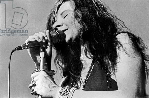 American singer Janis Joplin performing, USA end 1960s