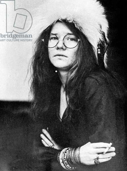 American singer Janis Joplin, USA early 1970