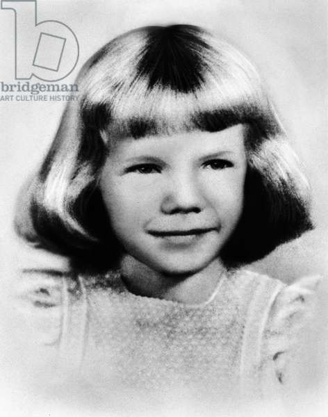 American singer Janis Joplin as a little girl, USA c. 1949-1950