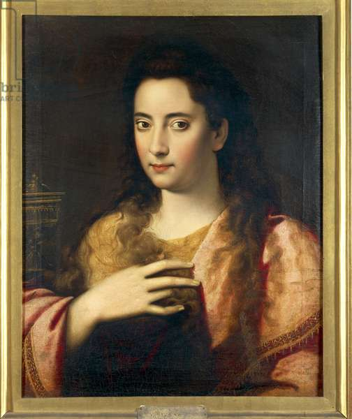 Portrait of a Woman (Lavinia Fontana?) as Magdalene by Scipione Pulzone called