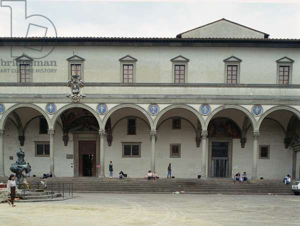 The Foundling Hospital, loggia built in c.1420 by Filippo Brunelleschi (1377-1446)