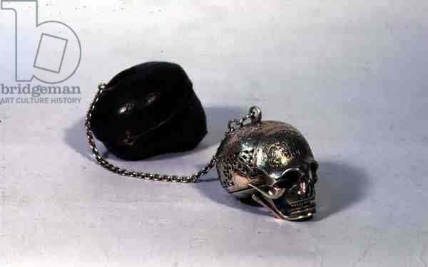 The 'Mary Queen of Scots Skull Watch', Maysant, Blois, France, 18th century (see also 123636)