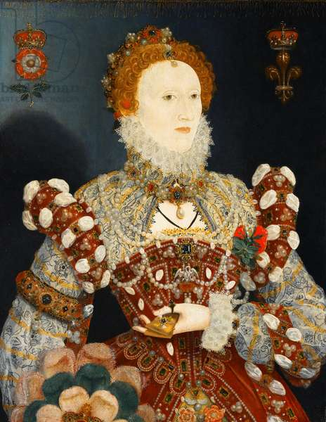 Queen Elizabeth I - The Pelican Portrait, c.1574 (oil on panel)