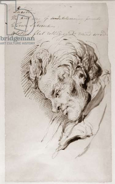 Profile of William Wilberforce (1759-1833), 1832 (pen and ink on paper)
