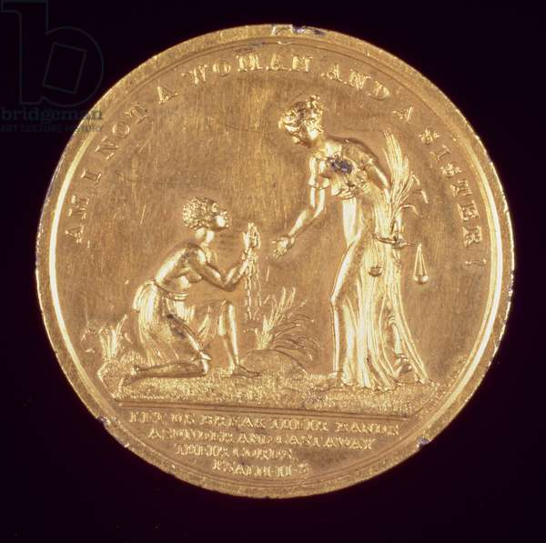 'Am I Not a Woman and a Sister', Abolitionist medal, depicting a chained slave kneeling, c.1830