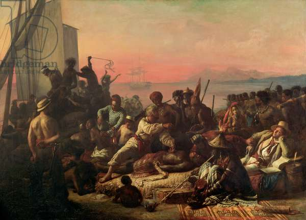 Slaves on the West Coast of Africa, c.1833 (oil on canvas)