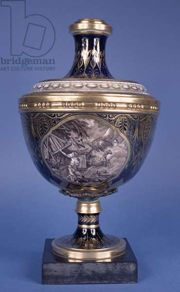 Reverse of a vase depicting slave trading, Coalport, 19th century (porcelain) (for front see 146805)