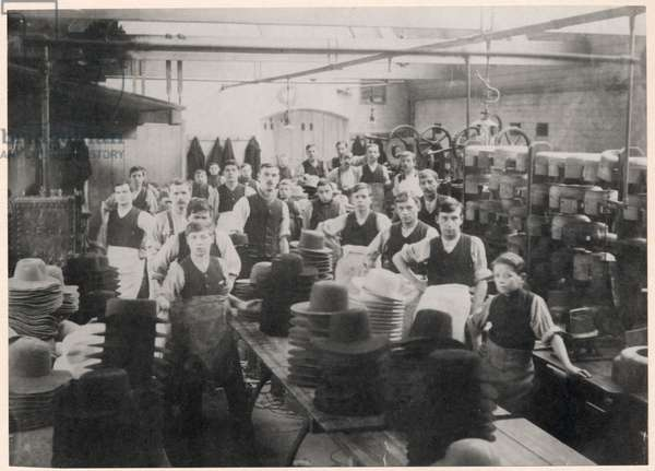 Luckman & Pickering's Hat Factory, Bedworth, 1900 (b/w photo)