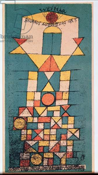 Postcard for the Bauhaus exhibition 'The sublime aspect', 1923 (no 47) (lithograph)