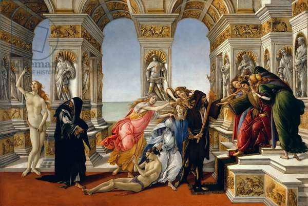 Calumny of Apelles, 1497-98 (oil on panel)