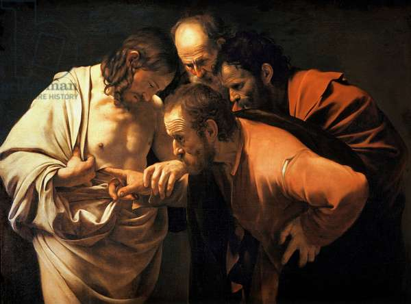 The Incredulity of St. Thomas, 1602-03 (oil on canvas)