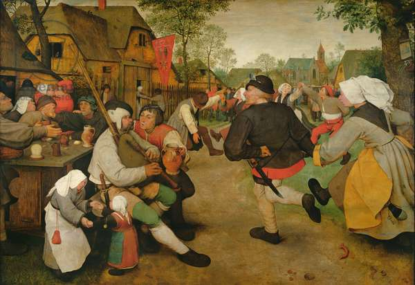 Peasant Dance,  1568 (oil on panel)