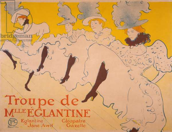 La Troupe de Mlle. Églantine, 1895-1896 (colour litho)
