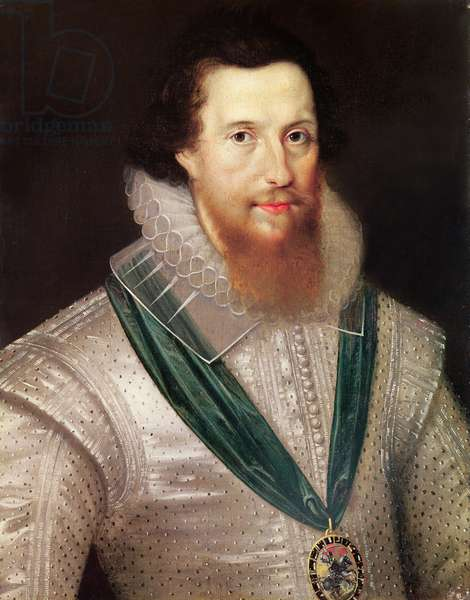 Portrait of Robert Devereux (1566-1601) c.1596 (oil on canvas)
