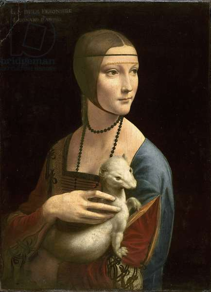 The Lady with the Ermine (Cecilia Gallerani), 1496 (oil on walnut panel)