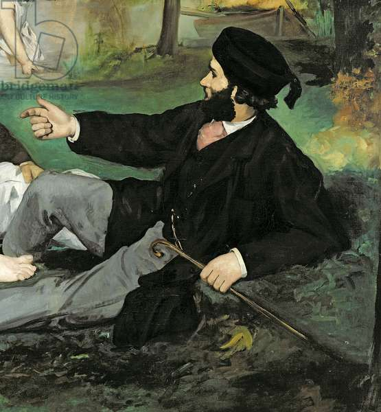 Dejeuner sur l'Herbe, 1863 (oil on canvas) (see also 65761) (detail of 2310)