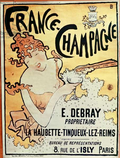 Poster advertising France Champagne, 1891 (colour litho)