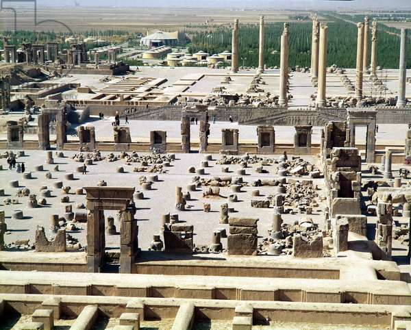 General view of the palace, Achaemenian Period, 6th-5th century BC (photo)