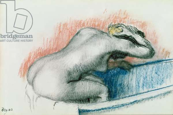 Woman Washing in the Bath, c.1892 (pastel on card)