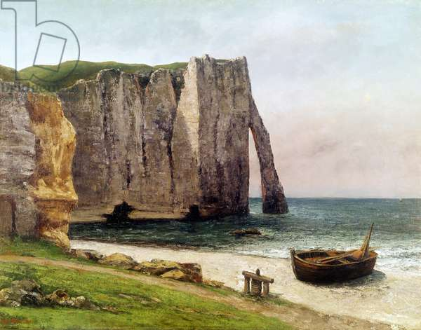 The Cliffs at Etretat, 1869 (oil on canvas)