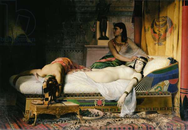 Death of Cleopatra, 1874 (oil on canvas)