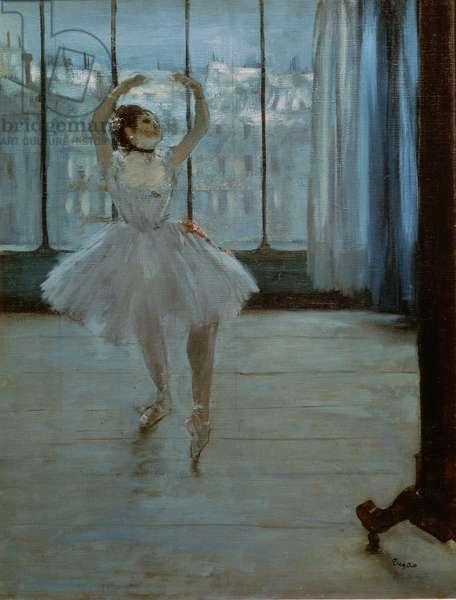 Dancer in Front of a Window (Dancer at the Photographer's Studio) c.1874-77 (oil on canvas)