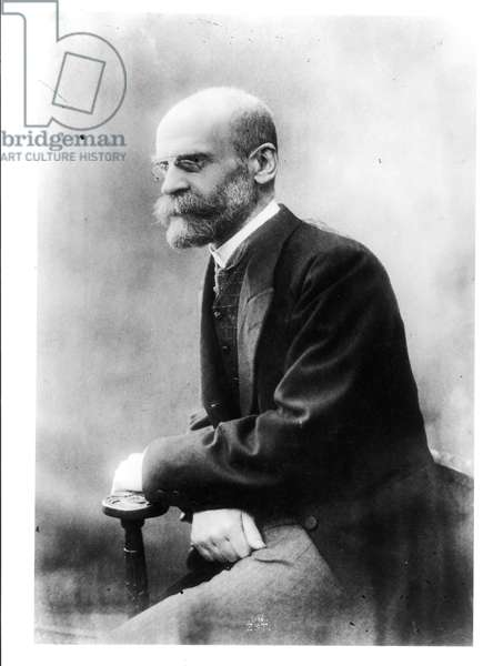 Portrait of Emile Durkheim (1858-1917) (b/w photo)