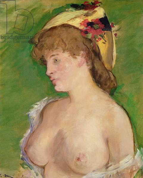 The Blonde with Bare Breasts, 1878 (oil on canvas)