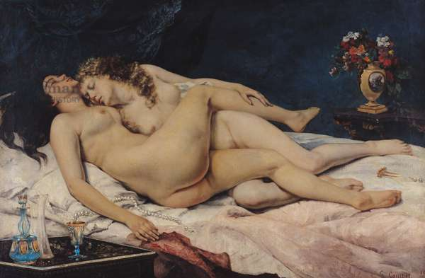 Le Sommeil, 1866 (oil on canvas)