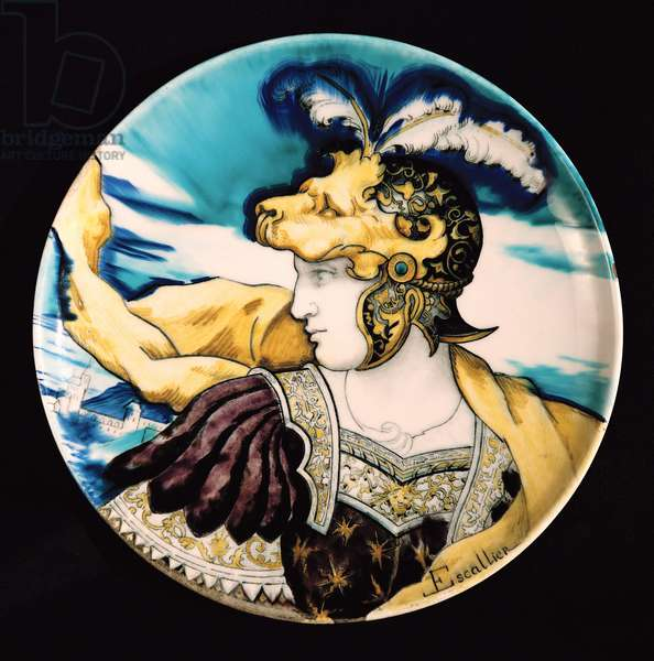 Sevres dish, after Giulio Romano (1492-1546) (faience)