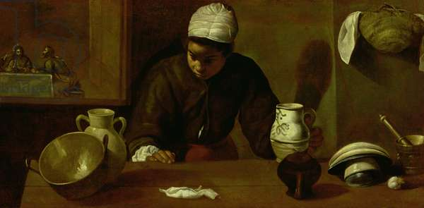 Kitchen Maid with the Supper at Emmaus, c.1618 (oil on canvas)