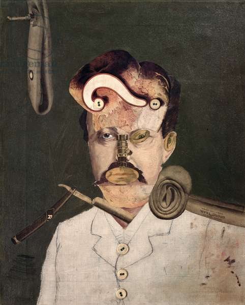 Remember Uncle August, the Unhappy Inventor, 1919 (collage)